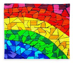 Rainbow ... Fleece Blanket