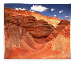 Rainbow Of Colors At The Wave Fleece Blanket