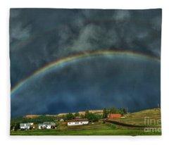 Rainbow Over Cripple Creek Fleece Blanket
