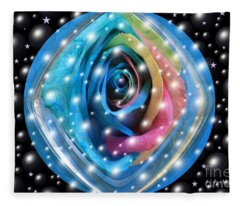 Rose Planet Fleece Blanket