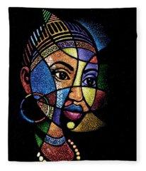 Rainbow Portrait Fleece Blanket