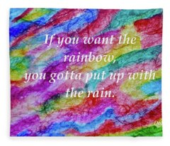 Rainbow Rain Fleece Blanket