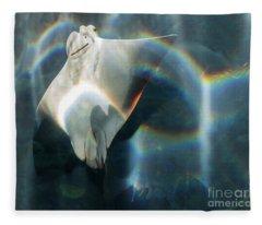 Rainbow Reflection Fleece Blanket