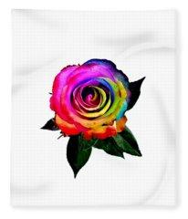 Rainbow Rose  Fleece Blanket