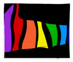 Rainbow Shark Fleece Blanket