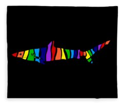 Rainbow Shark Fleece Blanket
