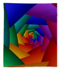Rainbow Spiral Fleece Blanket