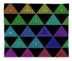 Rainbow Triangles Fleece Blanket