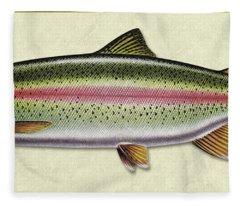 Rainbow Trout Id Fleece Blanket