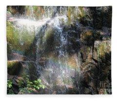 Rainbow Waterfall Fleece Blanket