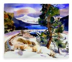Rainbowbridge Above Donner Lake Fleece Blanket