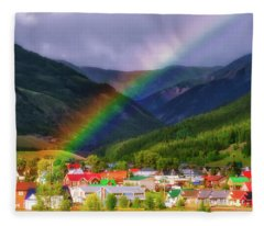 Rainbow's End Fleece Blanket