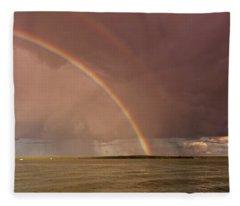 Rainbows Fleece Blanket