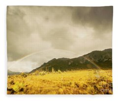 Raindrops In Rainbows Fleece Blanket