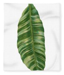 Rainforest Resort - Tropical Banana Leaf  Fleece Blanket