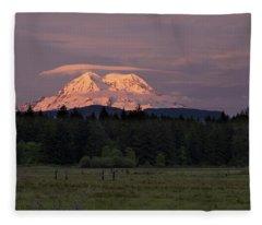 Rainier Dusk Fleece Blanket