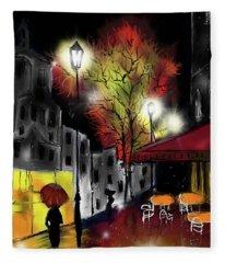 Raining And Color Fleece Blanket
