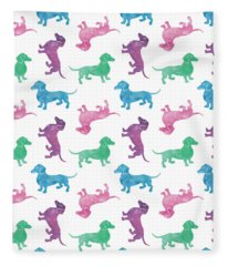 Raining Dachshunds Fleece Blanket