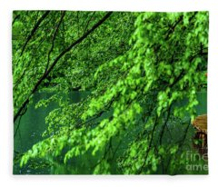 Raining Serenity - Plitvice Lakes National Park, Croatia Fleece Blanket