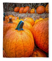 Rainy Day At The Pumpkin Patch Fleece Blanket