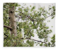 Rainy Day Birch -  Fleece Blanket