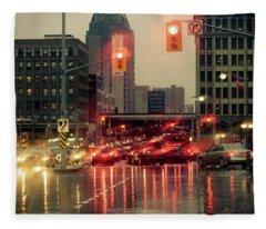 Rainy Day In Ottawa Fleece Blanket