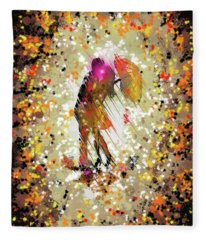 Rainy Love Fleece Blanket