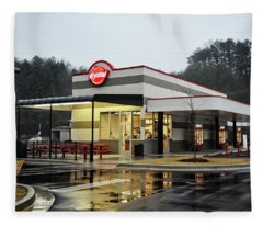 Rainy Morning At Krystal Fleece Blanket