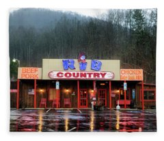 Rainy Morning At Rib Country Fleece Blanket