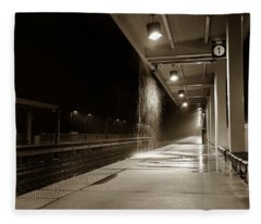 Rainy Night In Baltimore Fleece Blanket