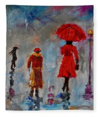 Rainy Spring Day Fleece Blanket