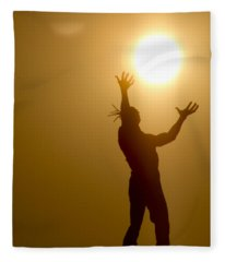 Raising The Sun Fleece Blanket