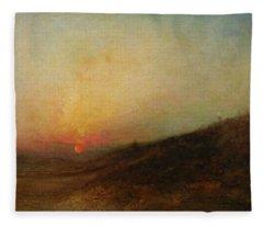 Ralph Albert Blakelock  1847  1919  Indian Encampment At Sunset Fleece Blanket