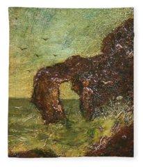 Ralph Albert Blakelock  1847  1919  Marine, Seal Rock Fleece Blanket