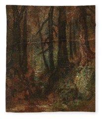Ralph Albert Blakelock  1847  1919  Woodland Stream Fleece Blanket