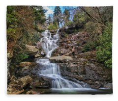 Ramsey Cascades - Tennessee Waterfall Fleece Blanket