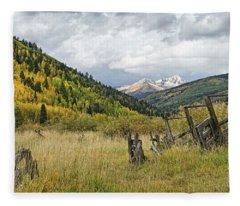 Ranch Remnants Fleece Blanket