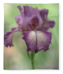 Rancho Rose. The Beauty Of Irises Fleece Blanket
