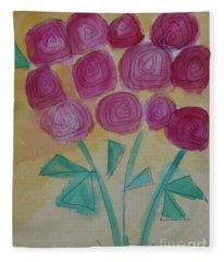 Randi's Roses Fleece Blanket