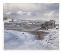 Rannoch Moor Winter Fleece Blanket