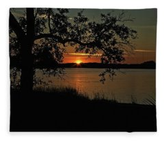 Roanoke Island Sunset Fleece Blanket