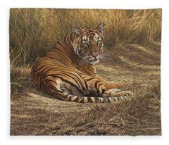 Ranthambore Roadblock Fleece Blanket
