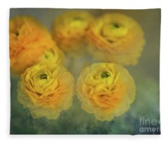 Ranunculus Fleece Blanket