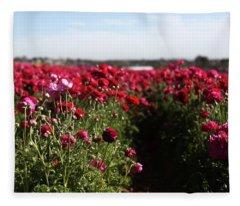 Ranunculus Field Fleece Blanket