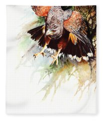 Raptor Fleece Blanket