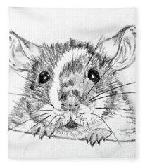 Rat Sketch Fleece Blanket