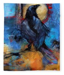 Raven Blue Fleece Blanket