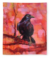 Raven Bright Fleece Blanket