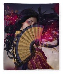 Raven - Portrait Fleece Blanket
