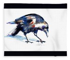 Raven Shadow From Vancouver Fleece Blanket